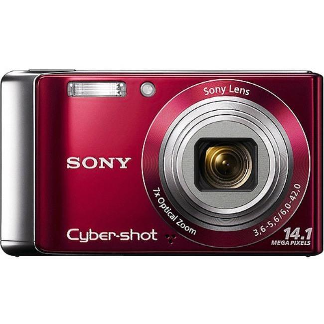 Sony Cybershot SDC-W370 Red Digital Camera (Refurbished)