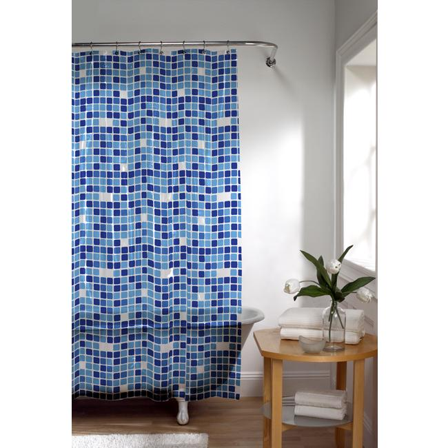 tiles extra long peva shower curtain