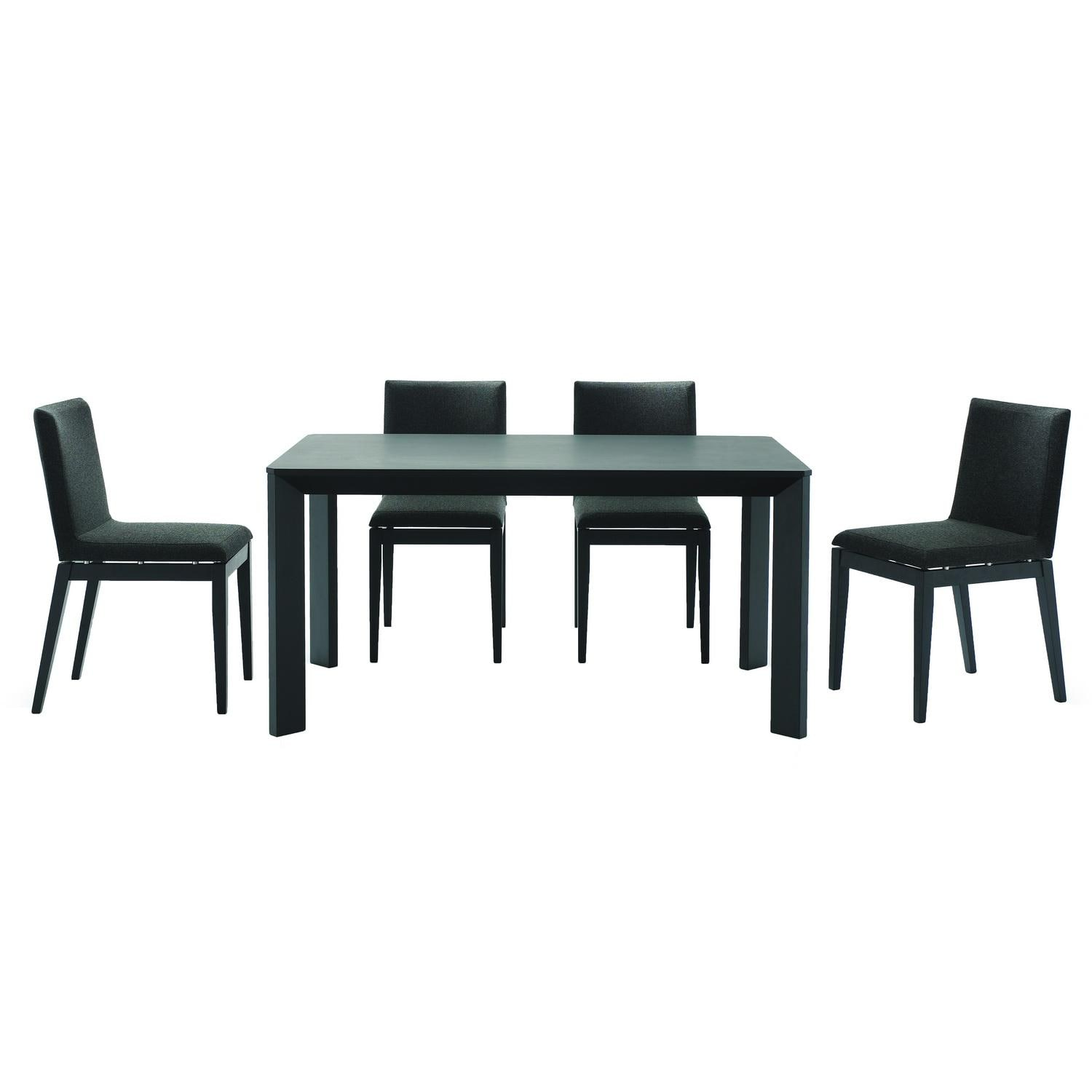 Moira Black 5-piece Modern Dining Set