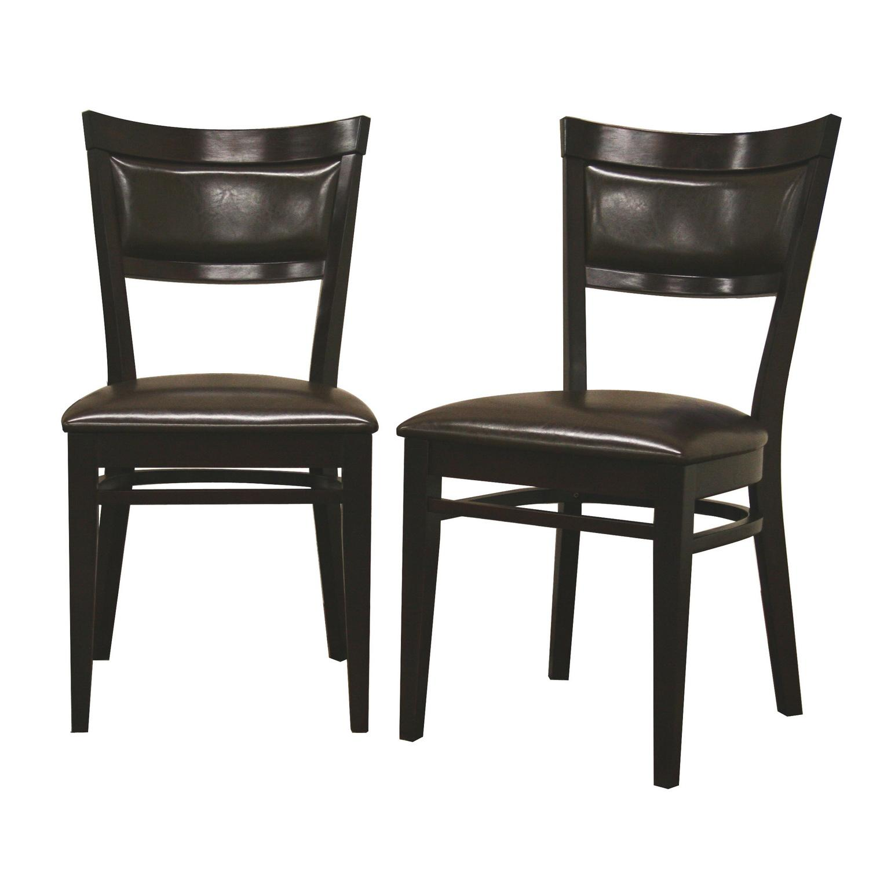 Shop Serena Dark Brown Modern Dining Chairs (Set Of 2