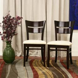 Grace Brown Wood Dining Chairs (Set of 2)