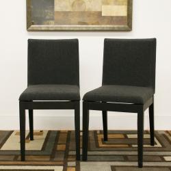 Moira Black Modern Dining Chairs (Set of 2)