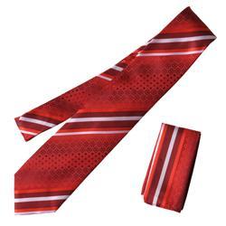 Boston Traveler St. P Men's Microfiber Tie and Hanky Set - Thumbnail 1