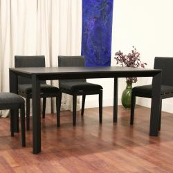 Moira Black 5-piece Modern Dining Set - Thumbnail 2