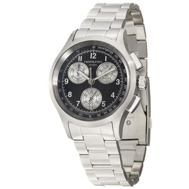 Hamilton Men's 'Khaki Aviation Chrono' Stainless Steel Quartz Watch