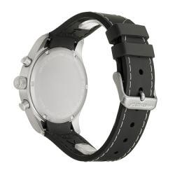 Hamilton Men's 'Khaki' Stainless Steel and Rubber Quartz Watch - Thumbnail 1