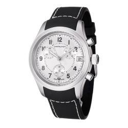 Hamilton Men's 'Khaki' Stainless Steel and Rubber Quartz Watch