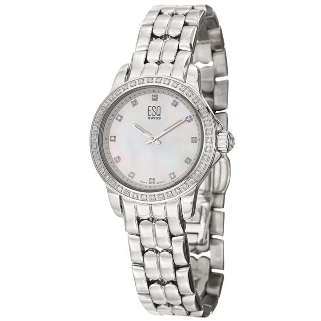 ESQ by Movado Women's 'Luxe' Stainless Steel Quartz Diamond Watch