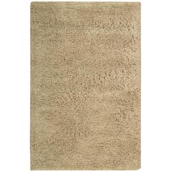 Nourison Hand-tufted Gold Coral Reef Shag Rug (7'6 x 9'6)