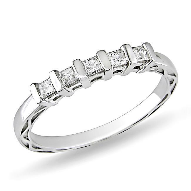 10k White Gold 1/4ct TDW Diamond Anniversary Ring (G-H, I2-I3)