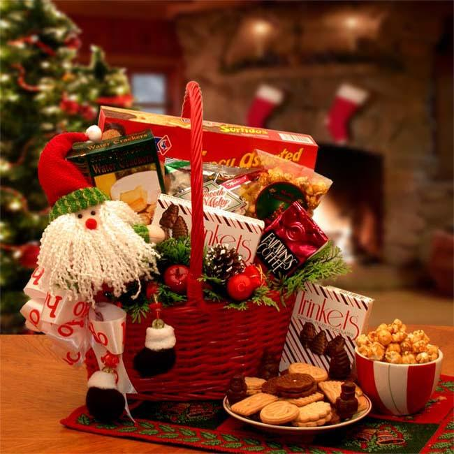 Santa's Holiday Cheer Gift Basket