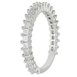 10k White Gold 1ct TDW Diamond Anniversary Ring (G-H, I2-I3) - Thumbnail 1