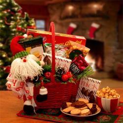 Santa's Holiday Cheer Gift Basket