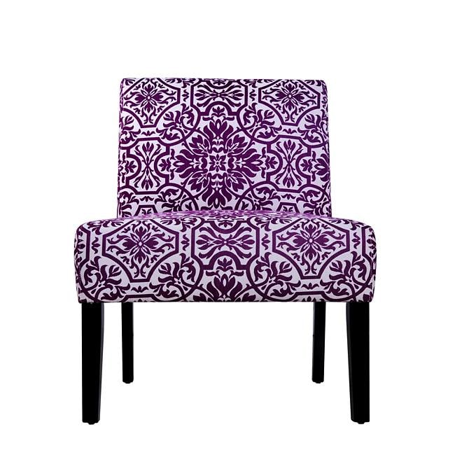 Niles Purple and White Vista Armless Chair