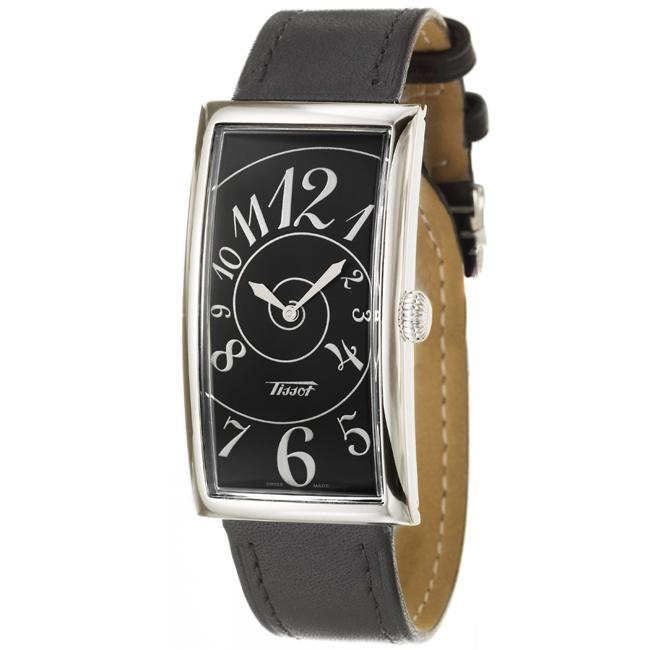 Tissot Men's 'Heritage' Stainless Steel and Leather Quartz Watch