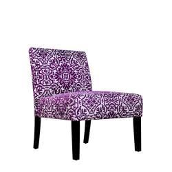 Niles Purple and White Vista Armless Chair - Thumbnail 1