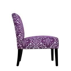 Niles Purple and White Vista Armless Chair - Thumbnail 2