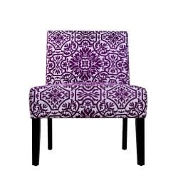 Niles Purple and White Vista Armless Chair - Thumbnail 0