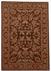 Hand-tufted Rusty Brown Oriental Wool Rug (9' x 13') - Thumbnail 1