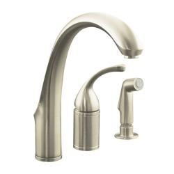 Kohler K-10430 Forté Single-Control Remote Valve Kitchen Sink Faucet With Sidespray And Lever Handle