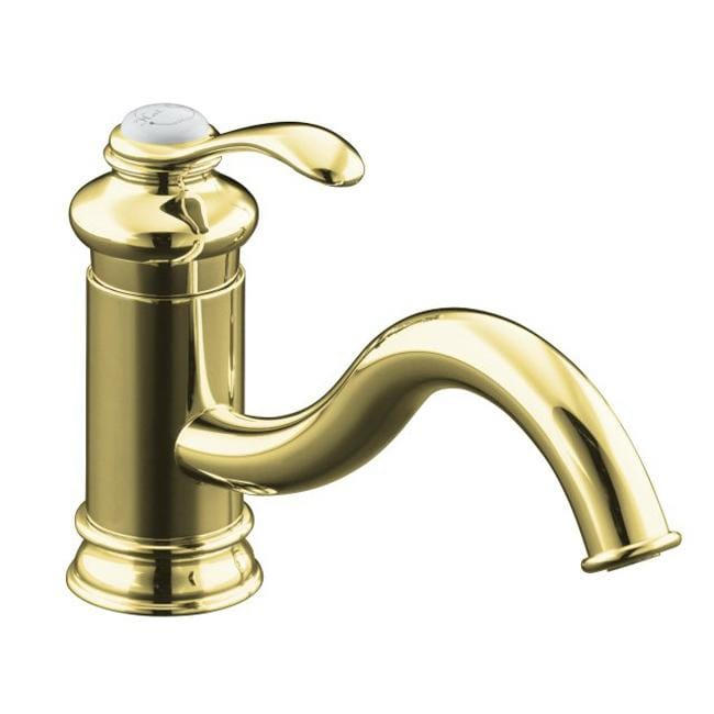 Kohler K-12175-PB Vibrant Polished Brass Fairfax Single-Control Kitchen Sink Faucet, Less Escutcheon And Sidespray