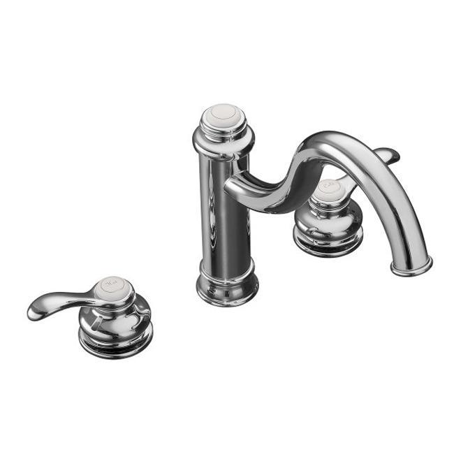 Kohler K-12230-CP Polished Chrome Fairfax High Spout Kitchen Sink Faucet With Lever Handles