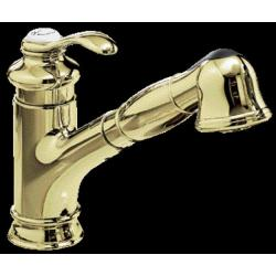 Kohler K-12177 Fairfax Single-Control Pullout Kitchen Sink Faucet