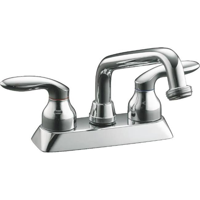 Kohler Cais Polished Chrome Threaded Spout Utility Sink Faucet