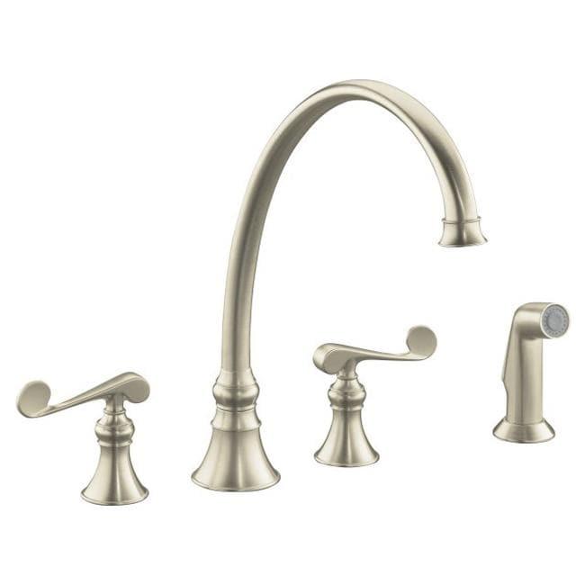 Kohler K 16111 4 Bn Vibrant Brushed Nickel Revival Kitchen Sink Faucet With