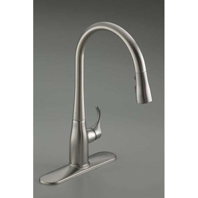 Kohler Kitchen Faucets Simplice kohler k-596-vs vibrant stainless simplice single-hole pull-down