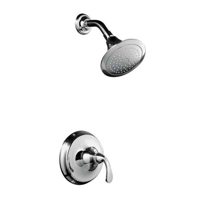 Kohler K-T10276-4-CP Polished Chrome Forte Rite-Temp Pressure-Balancing Shower Faucet Trim, Valve No