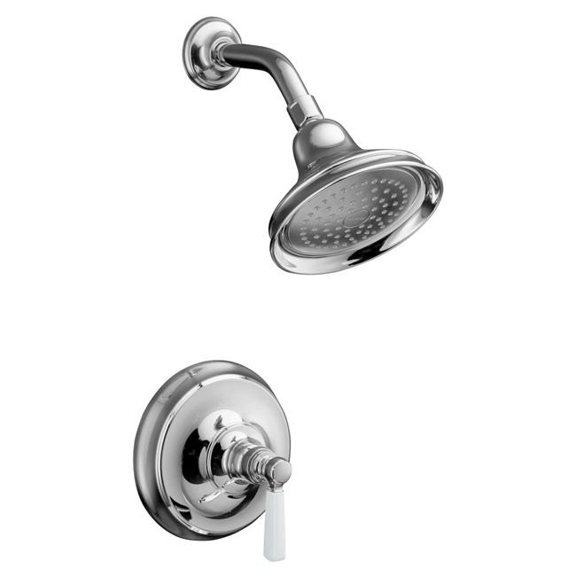 Kohler K-T10583-4P-CP Polished Chrome Bancroft Rite-Temp Pressure-Balancing Shower Faucet Trim With