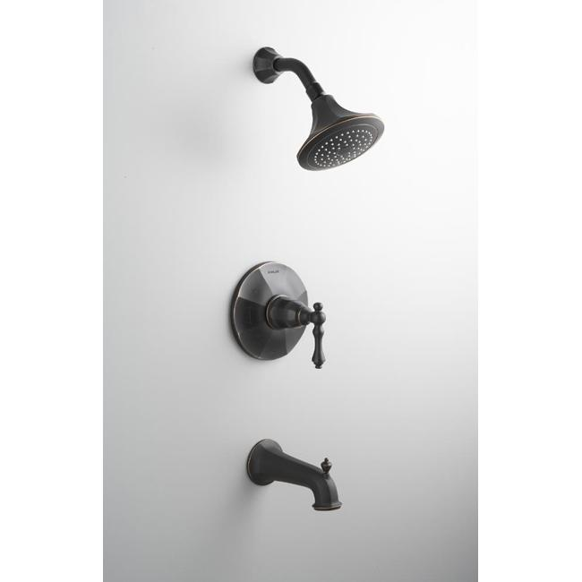 Kohler K-T13492-4-BRZ Oil Rubbed Bronze Kelston Rite-Temp Pressure-Balancing Bath And Shower Faucet Trim