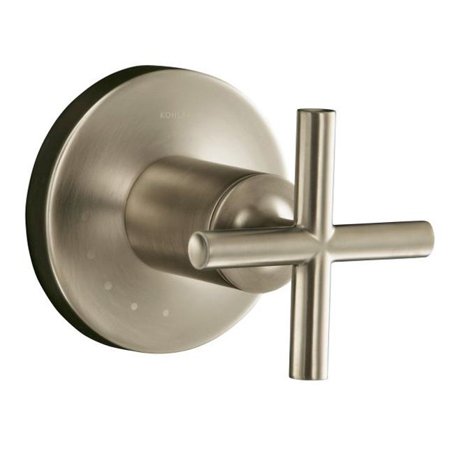 overstock faucets kitchen kohler k t14490 3 bn vibrant brushed nickel purist volume 14490