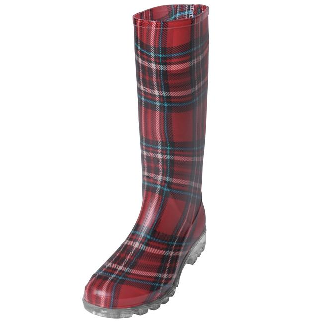 Adi Designs Women's Plaid Rain Boots - Free Shipping On Orders ...