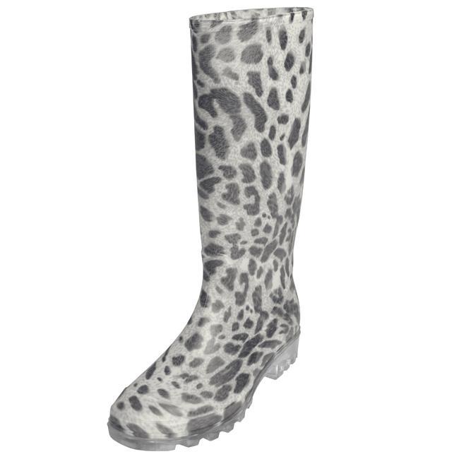 Adi Designs Women's Leopard Print Rain Boots