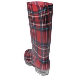 Adi Designs Women's Plaid Rain Boots