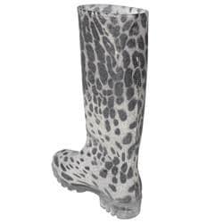 Adi Designs Women's Leopard Print Rain Boots - Thumbnail 1