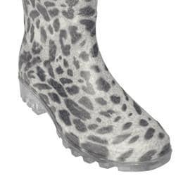 Adi Designs Women's Leopard Print Rain Boots - Thumbnail 2
