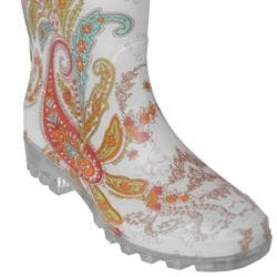 Adi Designs Women's Paisley Print Rain Boots - Free Shipping On ...