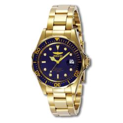 Invicta Men's 'Pro Diver' 23k Goldplated Watch - Thumbnail 1