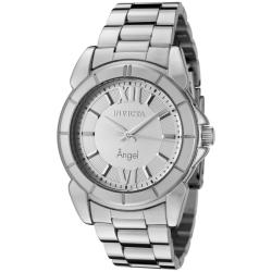 Invicta Women's 457 'Angel' Silver Dial Stainless Steel Watch