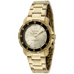 Invicta Women'S 'Angel' Gold Dial Goldplated Watch