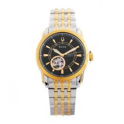 Bulova Men's Automatic 21 Jewels Black Dial Watch