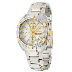 Seiko Women's 'Velatura' Two-tone Steel Quartz Diamond Watch - Thumbnail 2