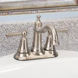 Fontaine Diamani Centerset Brushed Nickel Bathroom Sink Faucet - Thumbnail 0
