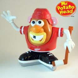 Detroit Red Wings Licensed Collectible Mr. Potato Head with Game Faces - Thumbnail 1