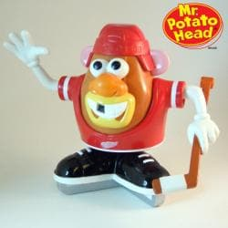 Detroit Red Wings Licensed Collectible Mr. Potato Head with Game Faces - Thumbnail 0