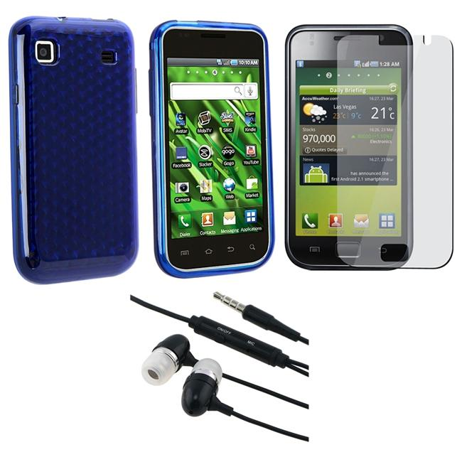3-piece TPU Case/ Screen Protector/ Headset for Samsung T959 Vibrant