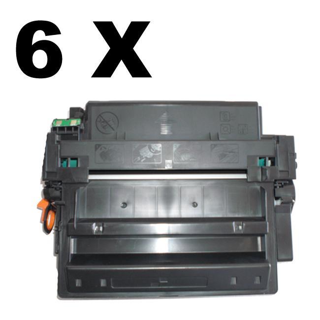HP Q6511X High Yield Black Laser Toner (Pack of 6) (Refurbished)